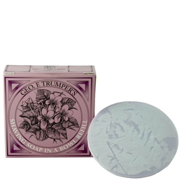 Trumpers Violet Hard Shaving Soap Refill - 80 g