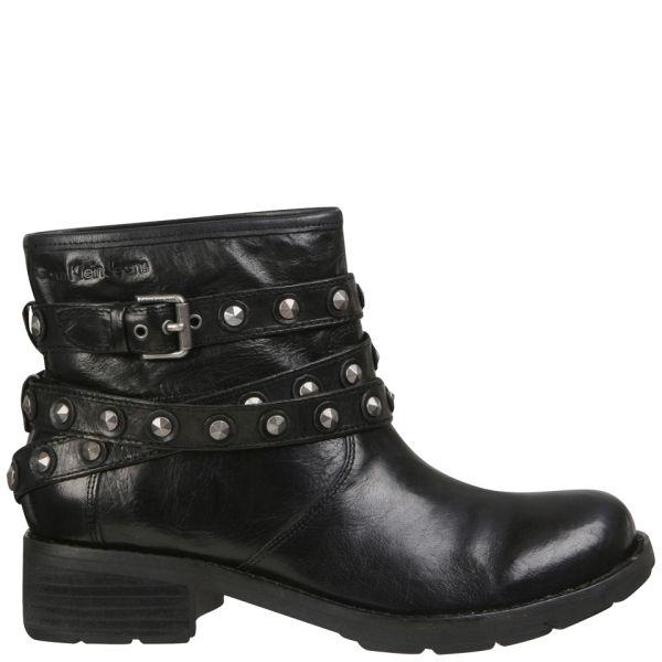 CK Jeans Women's Helga Studded Biker Ankle Boots - Black