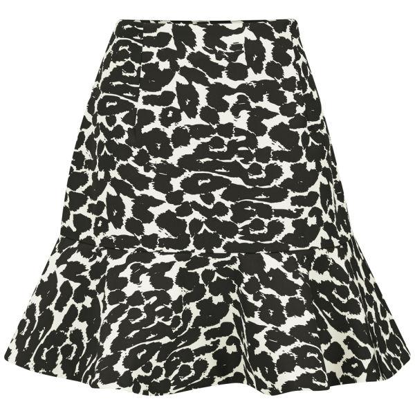 Finders Keepers Women's Like Smoke Frill Skirt - Leopard
