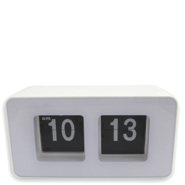 Flip clock homeware White flip clock