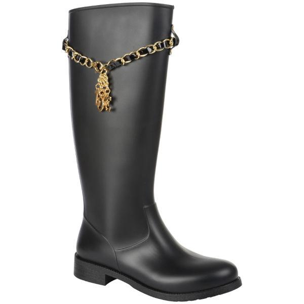 Love Moschino Women's Tall Rain Boots - Black
