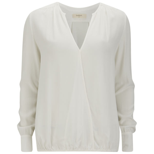 ba&sh Women's Alleluia Wrap Zips Shirt - White