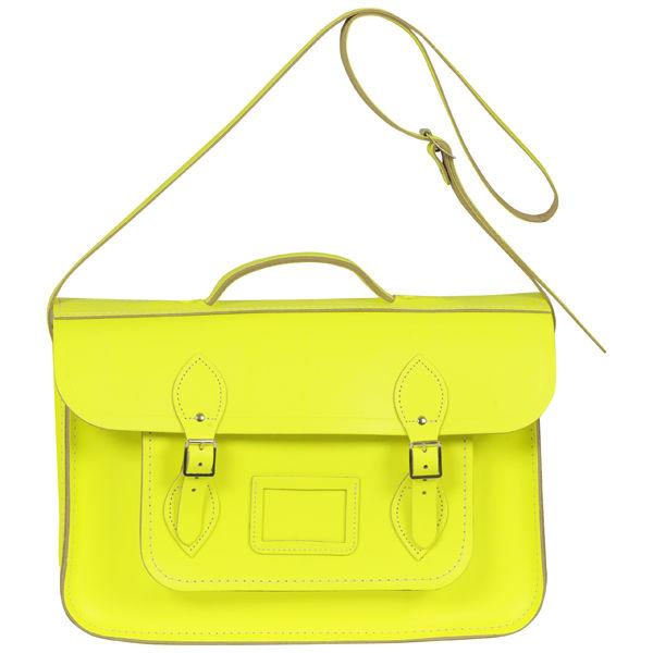 The Cambridge Satchel Company 15 Inch Fluoro Leather Satchel - Fluorescent Yellow
