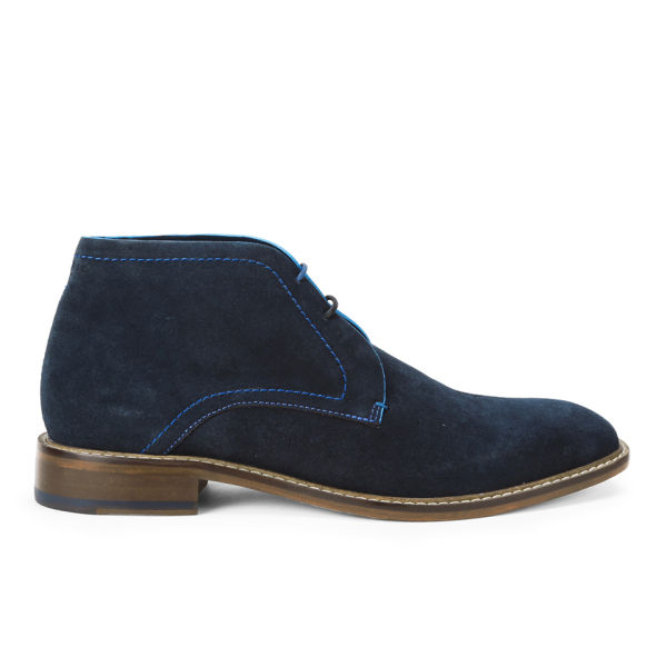 ted baker s torsdi suede chukka boots blue clothing