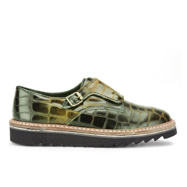 Purified Women's Promo 3 Croc Leather Shoes - Green