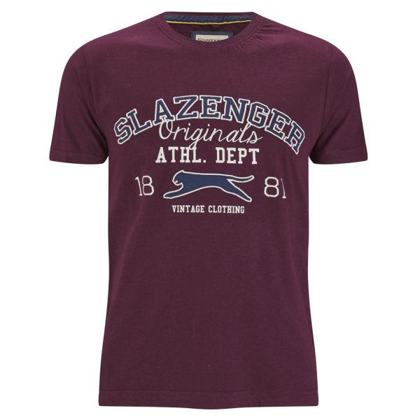 Slazenger Men's Waddle T-Shirt - Damson
