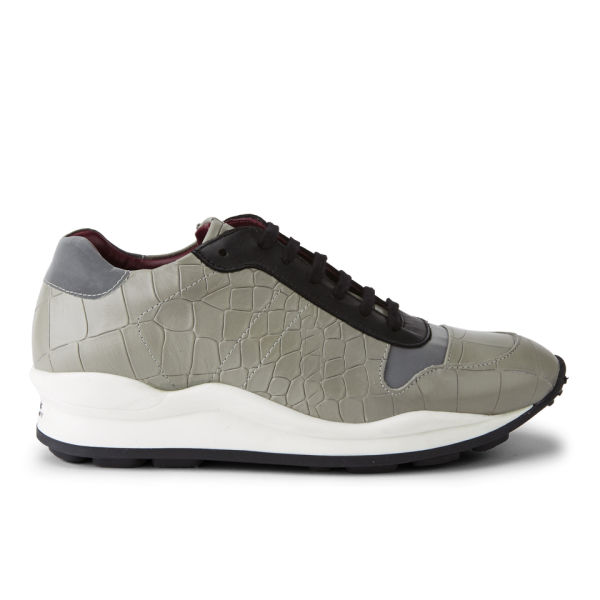 Opening Ceremony Women's OC Checkered Suede Trainers - Grey