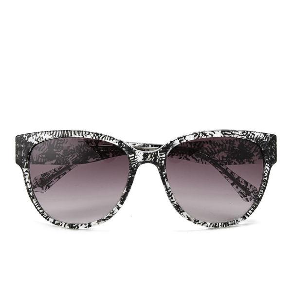 Vivienne Westwood Print Sunglasses - Black/Crystal