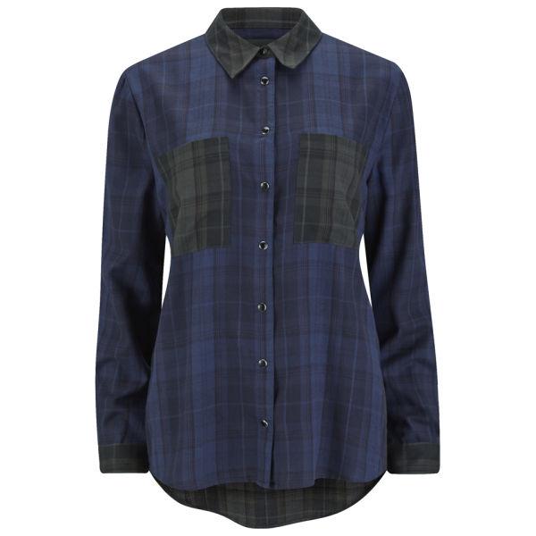 Gestuz Women's Maro Check Shirt - Blue Check