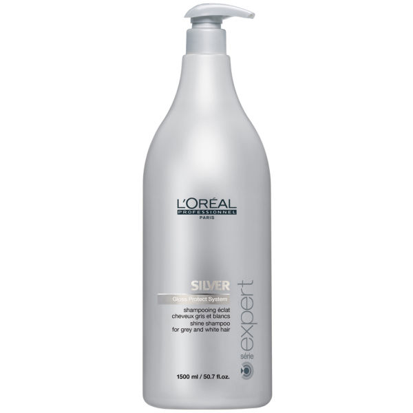 L'Oreal Professionnel Serie Expert Silver Shampoo - 1500ml (Pump Not Included)