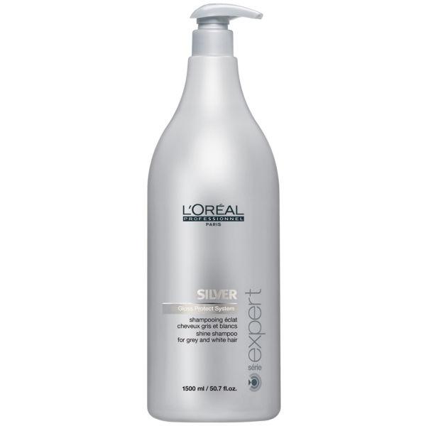 Shampooing L'Oréal Professionnel Série Expert pour Cheveux Gris - 1500ml (Pompe non incluse)