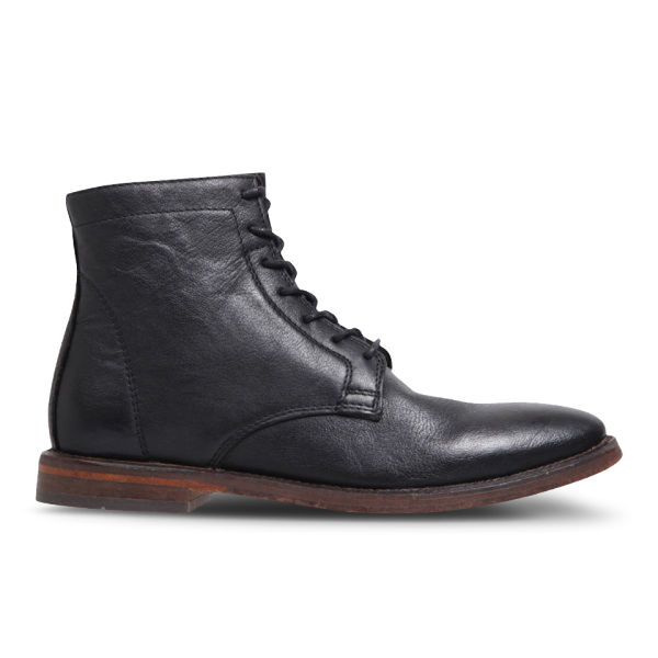 H Shoes by Hudson Women's Napton Leather Lace-Up Boots - Black