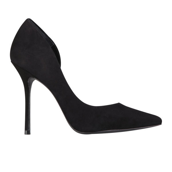 Kurt Geiger Women's Anja Suede Heeled Court Shoes - Black