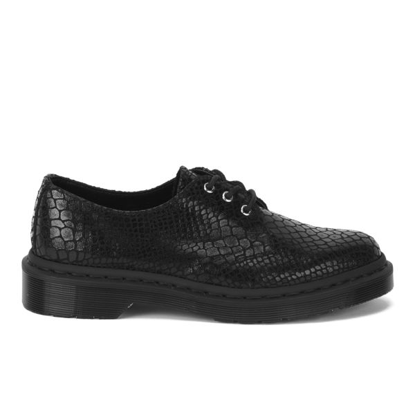 Dr. Martens Unisex Core Tahan 3-Eye Leather Shoes - Black