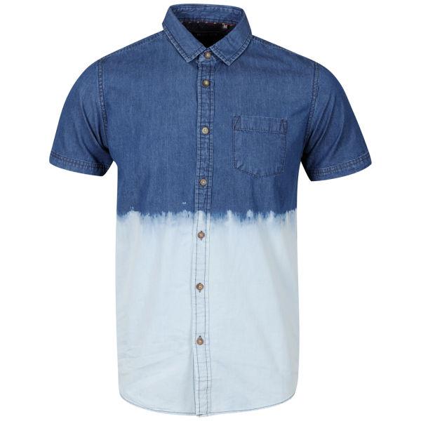 Brave Soul Men 39 S Reddem Short Sleeve Tie Dye Shirt Denim
