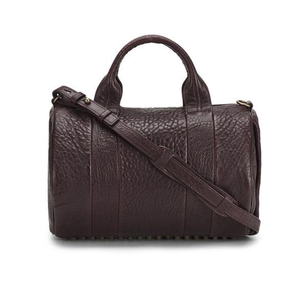 Alexander Wang Rocco Stud  Detail Leather Bowler Bag - Beet