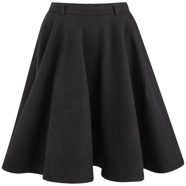 Peter Jensen Women's Circle Midi Skirt - Black