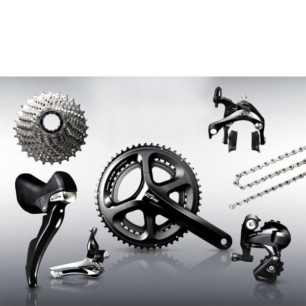 Shimano 105 5800 11 Speed Compact Groupset - Black - 50/34