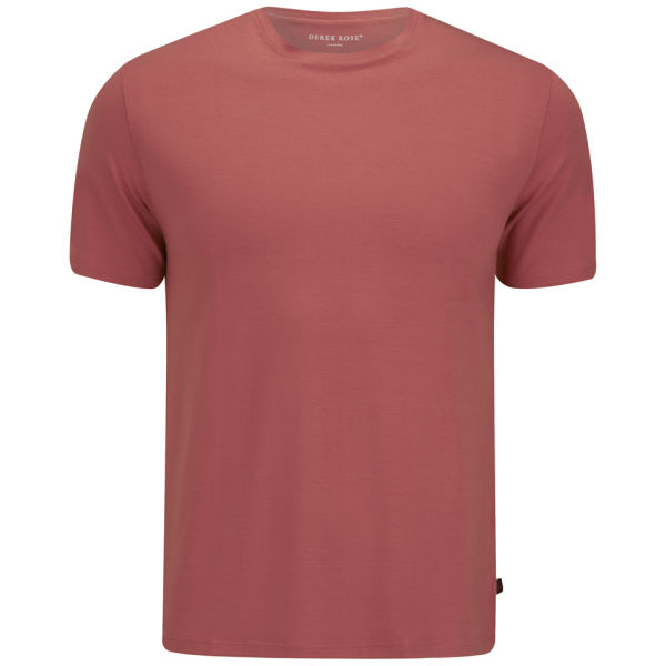 Derek Rose Men 39 S Basel 1 T Shirt Coral Free Uk