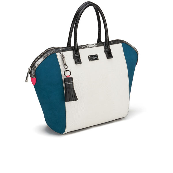 Paul s Boutique Betsy Snake Colour Block Tote Bag - White Womens ... 34a79ed7be6fc