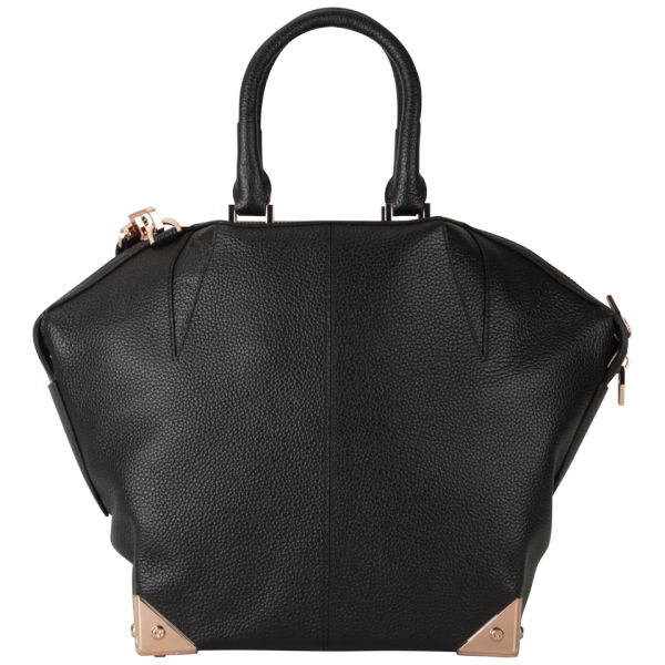 Alexander Wang Emile W/O Base Bag - Black Pebble Print and Rose Gold