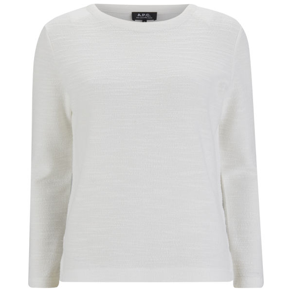 A.P.C. Women's Japan Textured Sweatshirt - Ecru