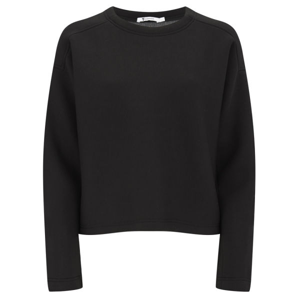 T by Alexander Wang Women's Scuba Double Knit Neoprene Jumper - Black