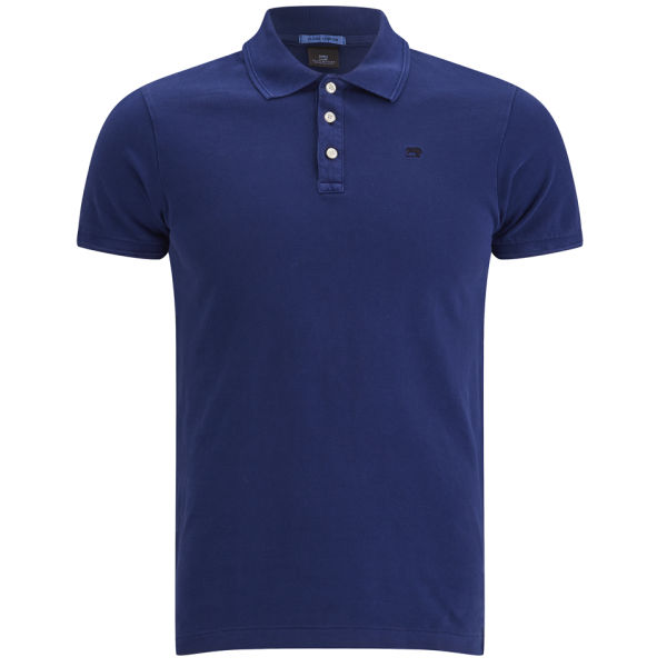 Scotch soda men 39 s classic garment dyed pique polo shirt for Cobalt blue polo shirt