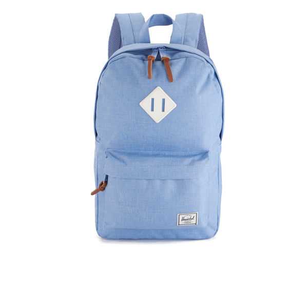 e7a3e082ce5 Herschel Supply Co. Women s Heritage Mid Volume Backpack - Chambray  Crosshatch White Rubber