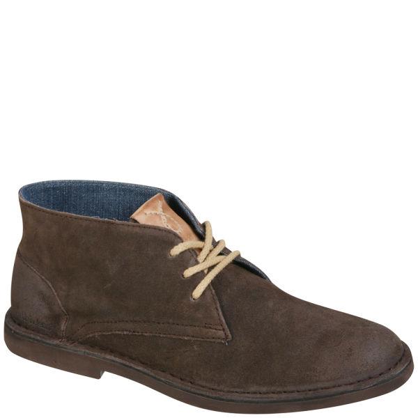 CK Jeans Men's Henri Waxed Suede Chukka Boots - Dark Brown