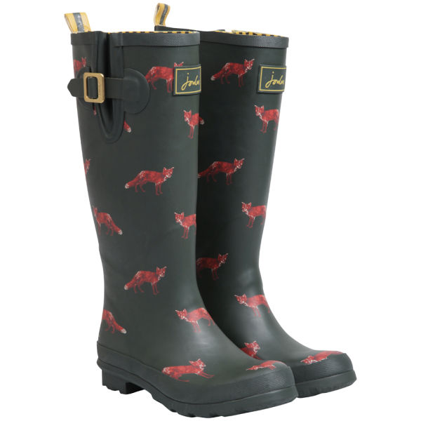 Joules Women s Welly Print Wellies - Green Fox  Image 1 56ac33c23