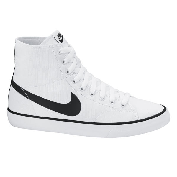Nike Men's Primo Court Mid Trainers - White/Black: Image 1