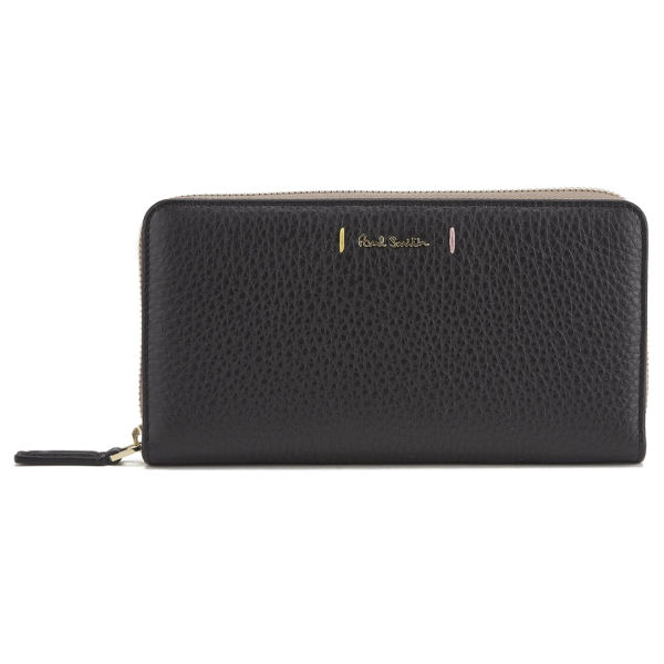 Paul Smith Accessories Women S Large Zip Around Leather Purse Black Image 1