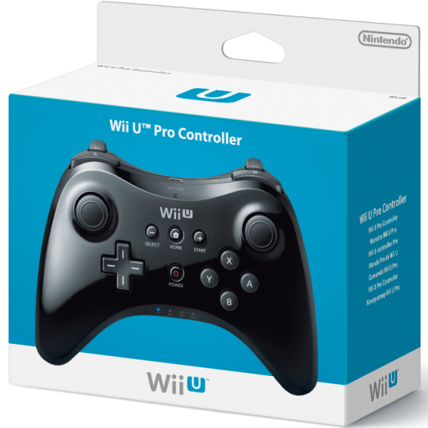 wii u pro controller black wii u accessories. Black Bedroom Furniture Sets. Home Design Ideas