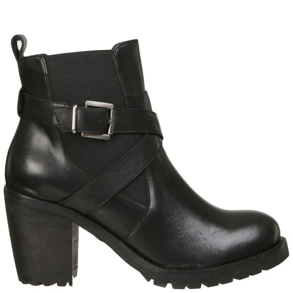 Lola Cruz Women's Leather Chelsea Boots - Black
