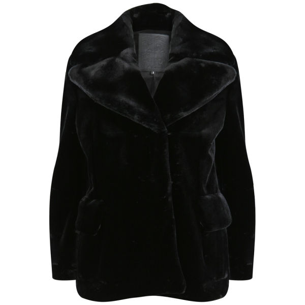 D.EFECT Women's Indiana Fur Coat - Black