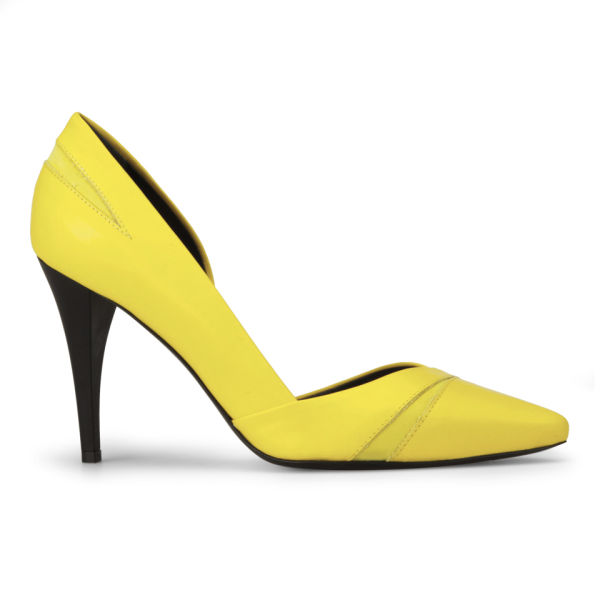 McQ Alexander McQueen Women's Lex Pump Leather Heels - Yellow