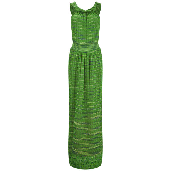 M Missoni Women's Knitted Maxi Dress - Verde Erba