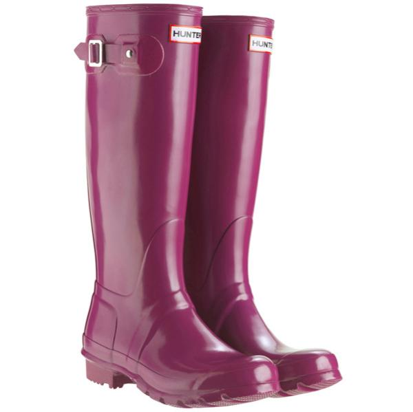 Hunter Women's Original Tall Gloss Wellies - Violet