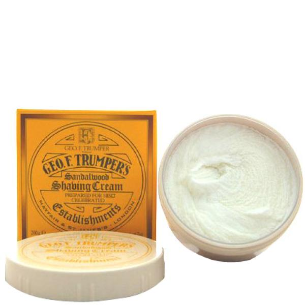 Shave Cream - Sandalwood de Trumpers 200gm - Contenant
