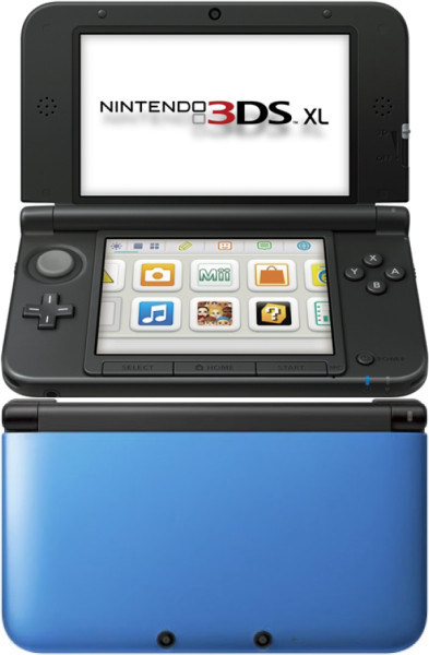 Nintendo 3ds xl console blue and black iwoot - Nintendo 3 ds xl console ...