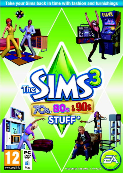 The sims 3 70 39 s 80 39 s and 90 39 s stuff pack pc zavvi for Case the sims 3 arredate