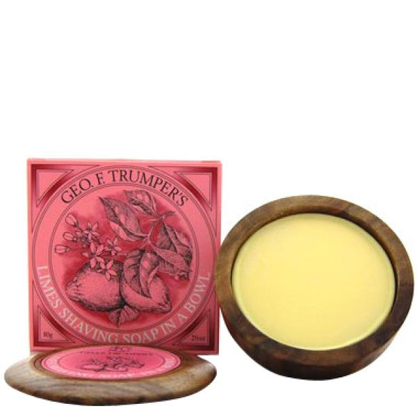 Geo. F. Trumper Trumpers Wooden Shave Bowl - Extract of Limes (Normal) (80g)