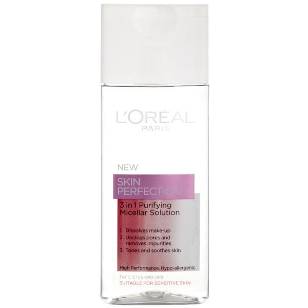 L'Oreal Paris Dermo Expertise Skin Perfection 3 in 1 Purifying Micellar Solution (200 ml)