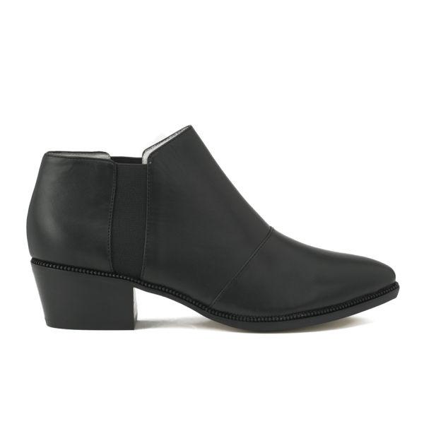 Senso Women's Liv I Elasticated Side Leather Heeled Ankle Boots - Black