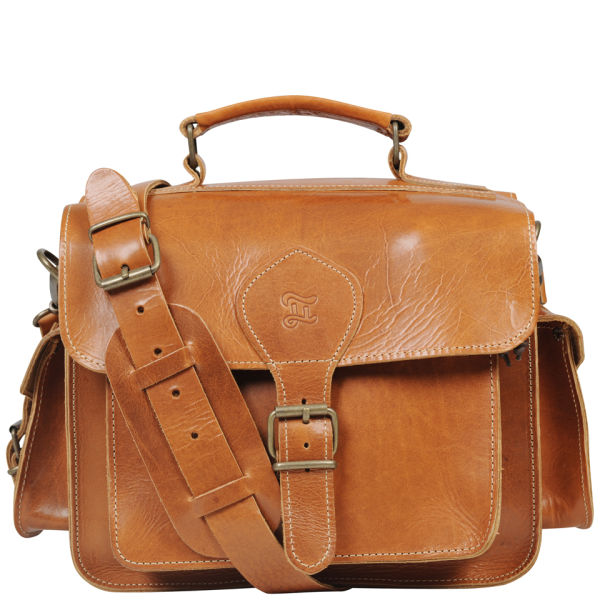 Grafea Leather Camera Bag  - Caramel