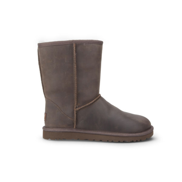UGG Women's Classic Short Leather Sheepskin Boots - Brownstone