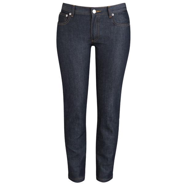 A.P.C. Women's Cropped Low Rise Etroit Court Jeans - Indigo