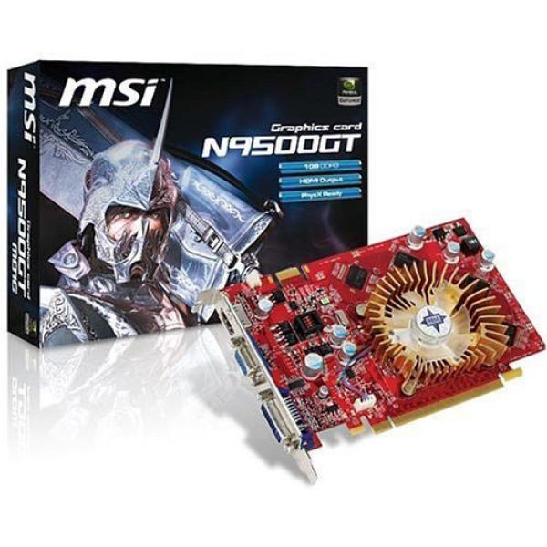 Msi Nvidia Gf 9500gt 1gb Ddr2 Pci E Graphics Card