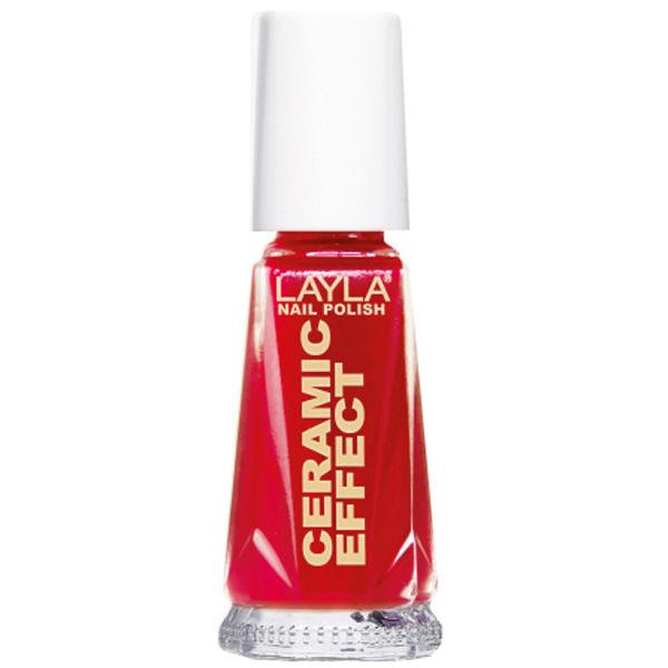 Layla Cosmetics Ceramic Effect Nail Polish N.06 Milan Red (10ml)